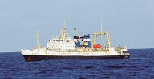 6000トン級の大型トロールもサバを対象に漁獲しているとみられる