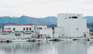 完成した製氷・貯氷施設(右)・荷捌き施設(左)