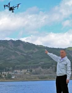 ドローンの漁場監視能力と抑止効果に期待する平野組合長