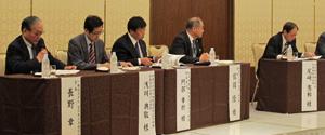 長野会長(左端)をコーディネーターに開かれたパネルディスカッション