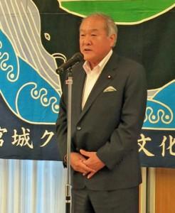 「食文化を守っていかなければならない」と強調した鈴木会長