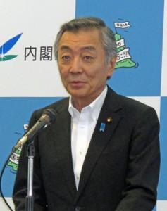 PJの狙いを説明する内閣府の松本純海洋政策担当大臣