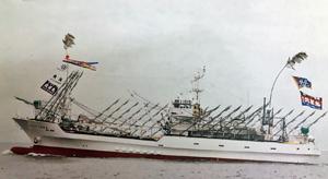 竣工した大型サンマ棒受網漁船第81北星丸