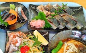 JF鋸南町保田漁協「ばんや」で提供された「ばんやさばづくし御膳」