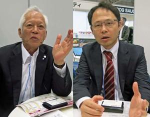 「成長率高いアジアから」と語る北山リーダ―(右)と「技術移転考えていない」と語る那須本部長