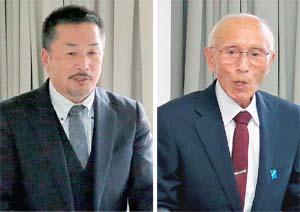 安全対策に関する取り組みを話す宗谷漁協の 奈良組合長と高砂漁協の松本組合長