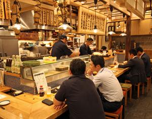 「熟成魚場 福井県美浜町」の店内の様子