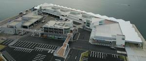 昨年10月に完成した塩釜のシンボル新・魚市場